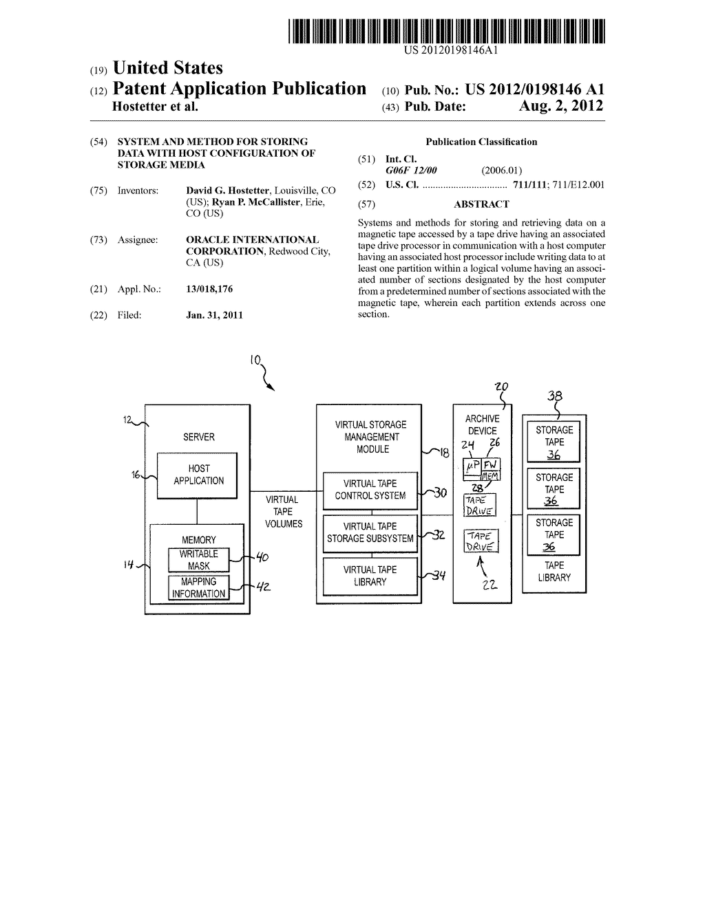 SYSTEM AND METHOD FOR STORING DATA WITH HOST CONFIGURATION OF STORAGE     MEDIA - diagram, schematic, and image 01