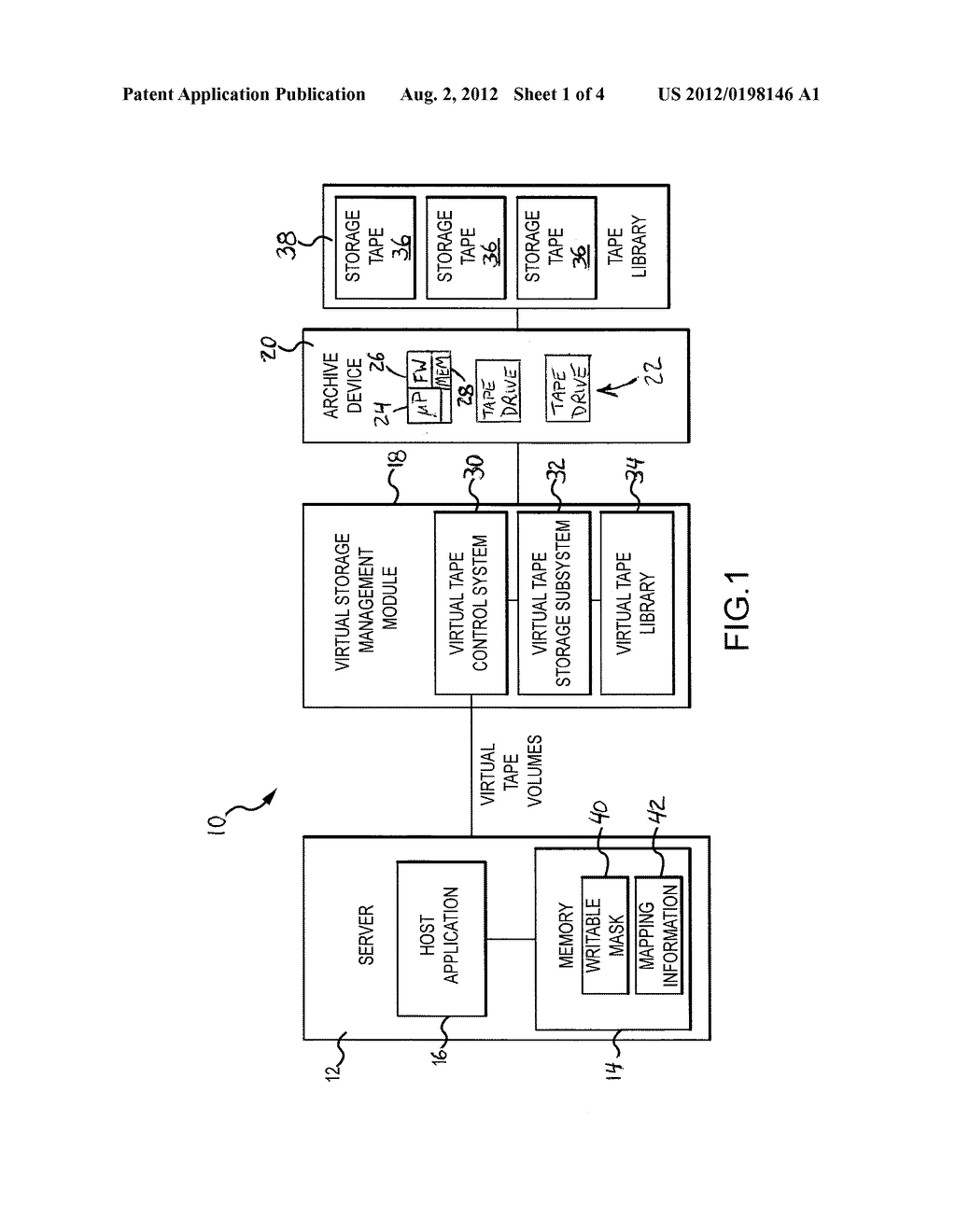 SYSTEM AND METHOD FOR STORING DATA WITH HOST CONFIGURATION OF STORAGE     MEDIA - diagram, schematic, and image 02