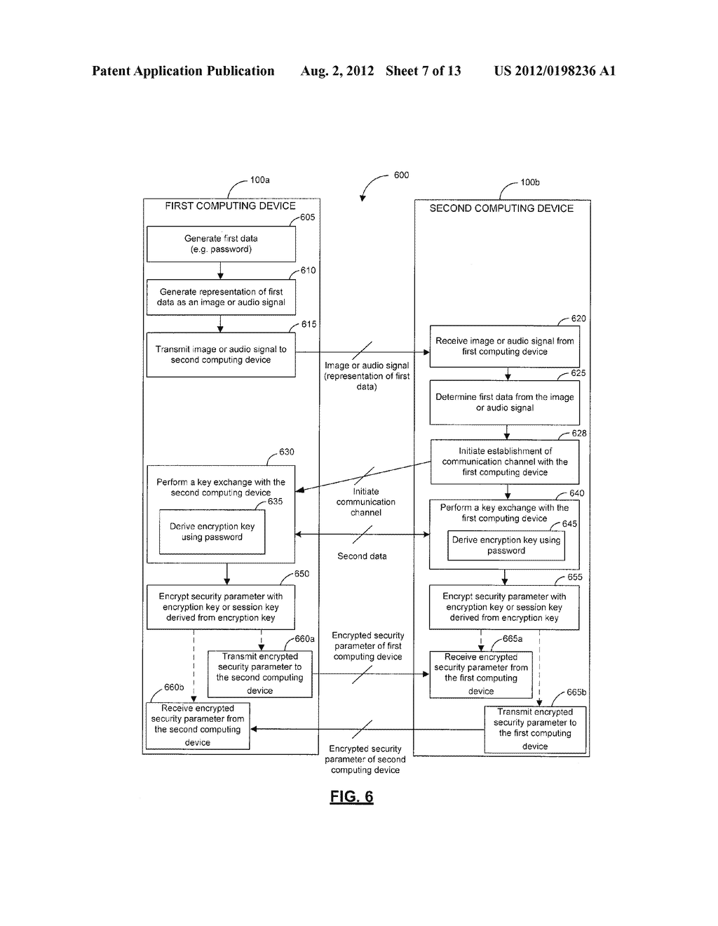 SYSTEMS, DEVICES, AND METHODS FOR SECURELY TRANSMITTING A SECURITY     PARAMETER TO A COMPUTING DEVICE - diagram, schematic, and image 08