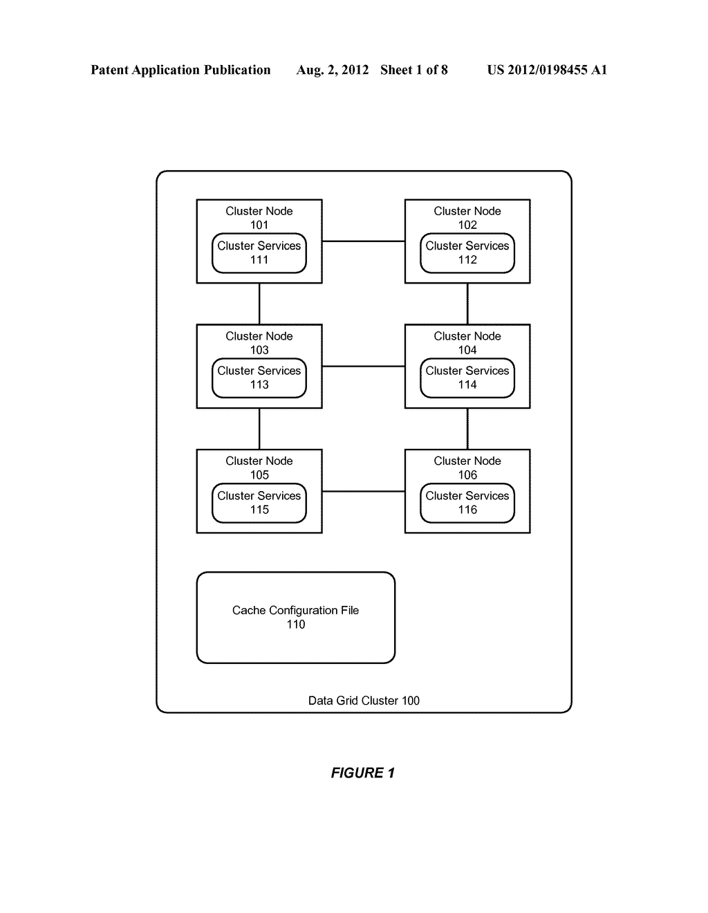 SYSTEM AND METHOD FOR SUPPORTING SERVICE LEVEL QUORUM IN A DATA GRID     CLUSTER - diagram, schematic, and image 02