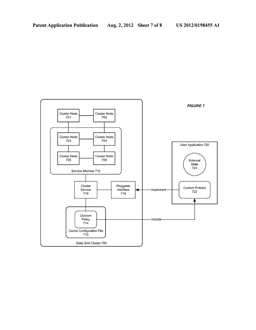 SYSTEM AND METHOD FOR SUPPORTING SERVICE LEVEL QUORUM IN A DATA GRID     CLUSTER - diagram, schematic, and image 08