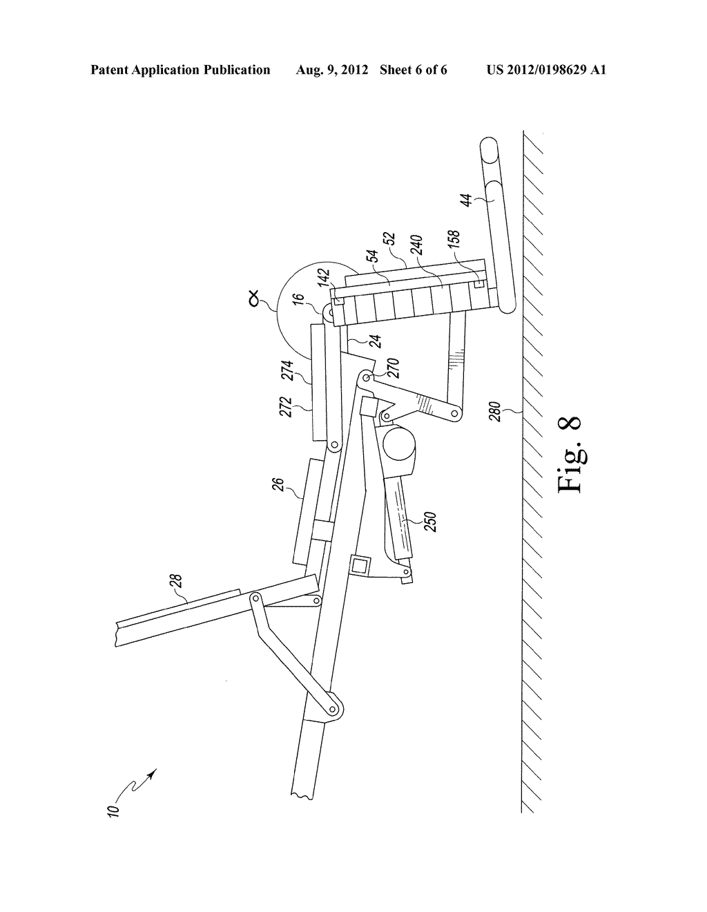 ADJUSTABLE FOOT SECTION FOR A PATIENT SUPPORT APPARATUS - diagram, schematic, and image 07