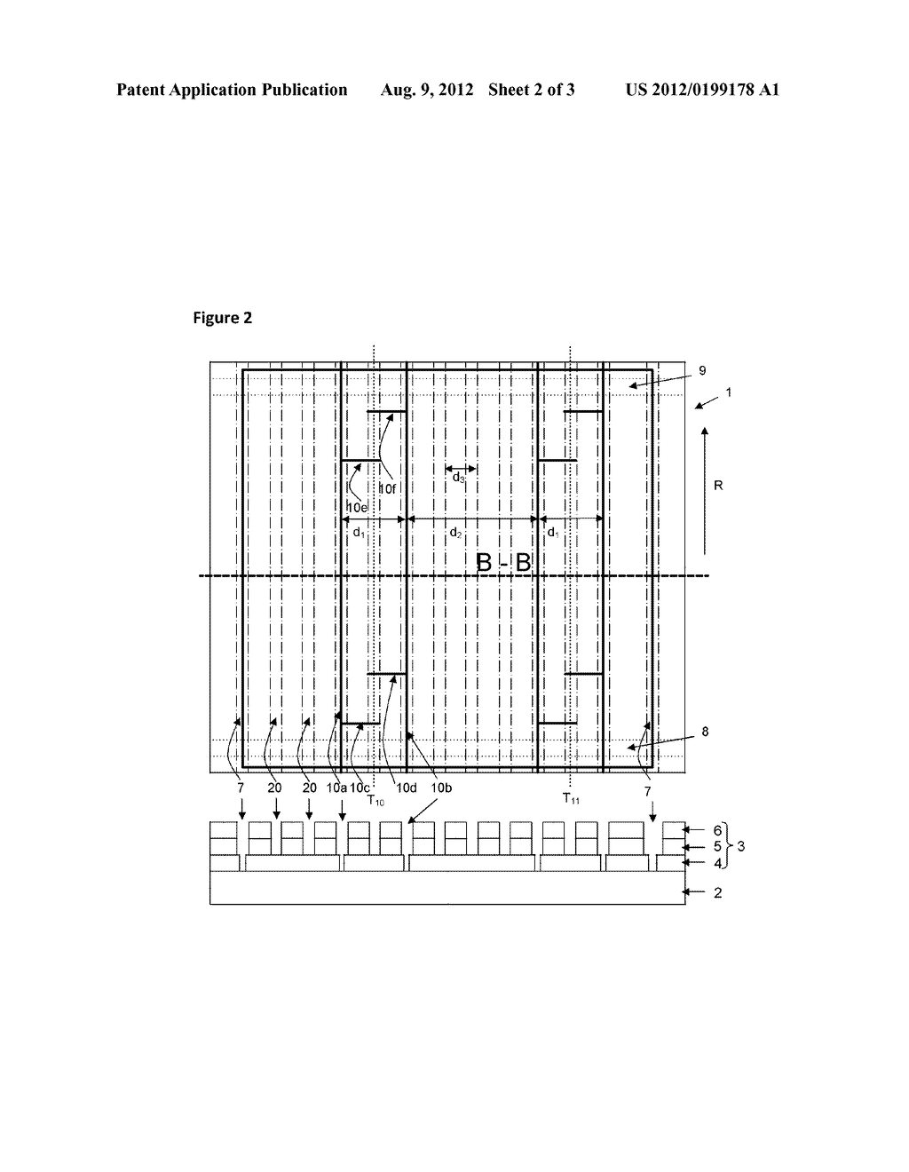 RAW MODULE FOR PRODUCING A THIN-FILM SOLAR MODULE, AND THIN-FILM SOLAR     MODULE - diagram, schematic, and image 03