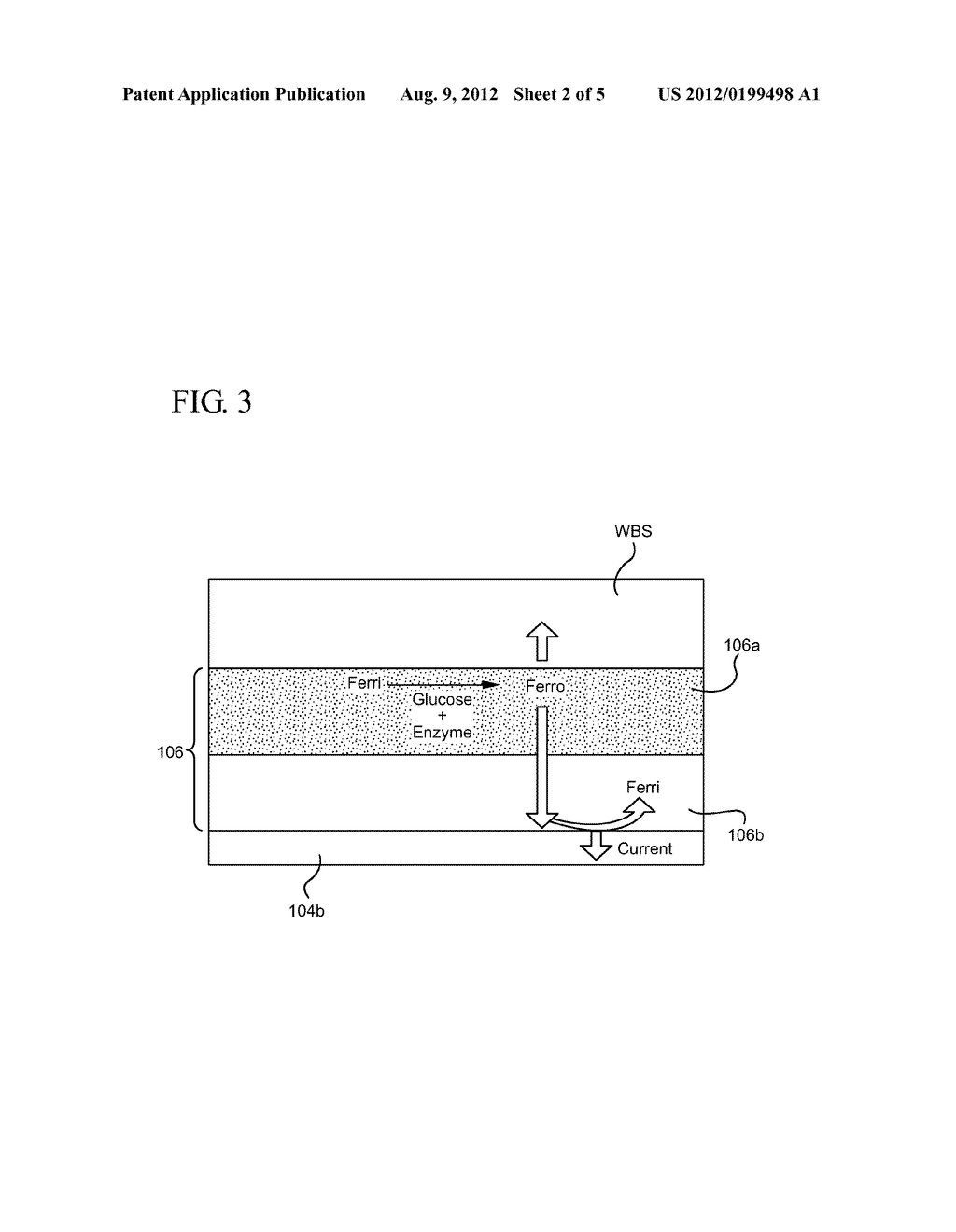 ELECTROCHEMICAL-BASED ANALYTICAL TEST STRIP WITH GRADED ENZYMATIC REAGENT     LAYER AND RELATED METHODS - diagram, schematic, and image 03