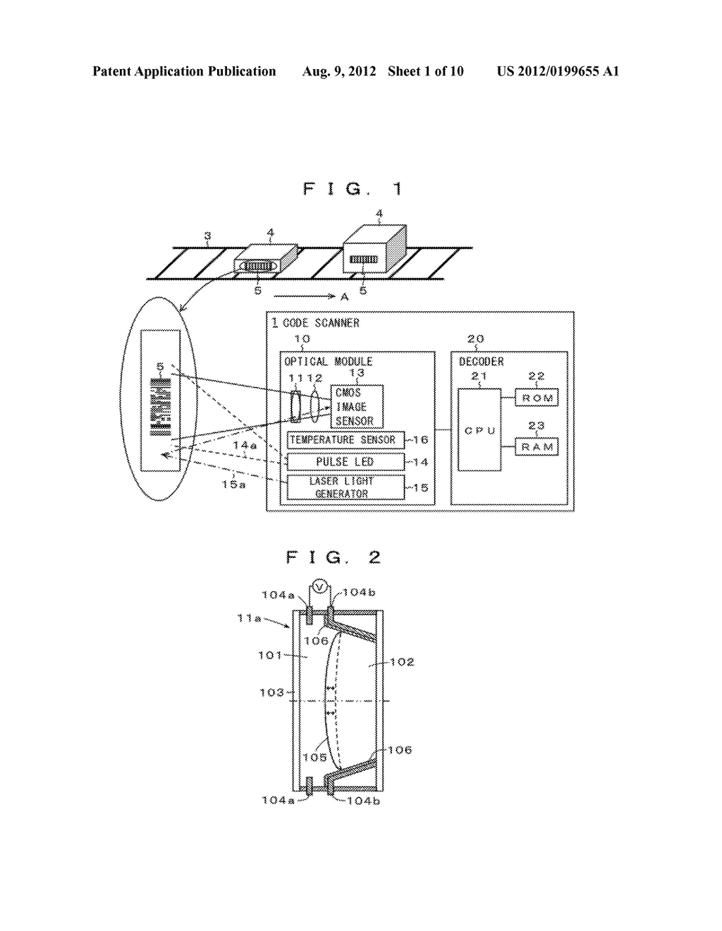 Optical Information Reader and Optical Information Reading Method - diagram, schematic, and image 02