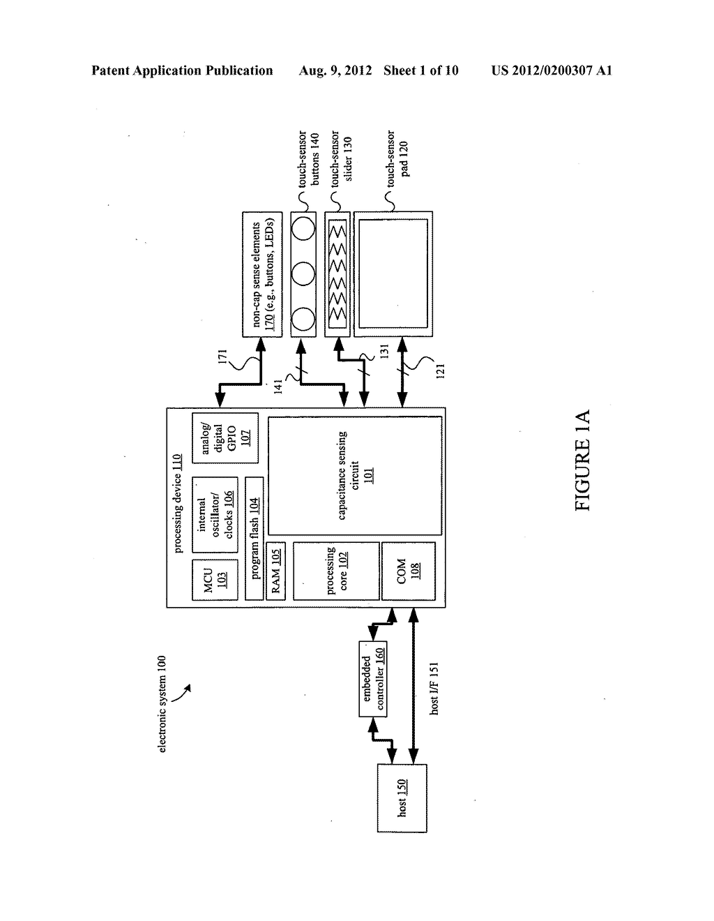 COMPENSATION CIRCUIT FOR A TX-RX CAPACITIVE SENSOR - diagram, schematic, and image 02