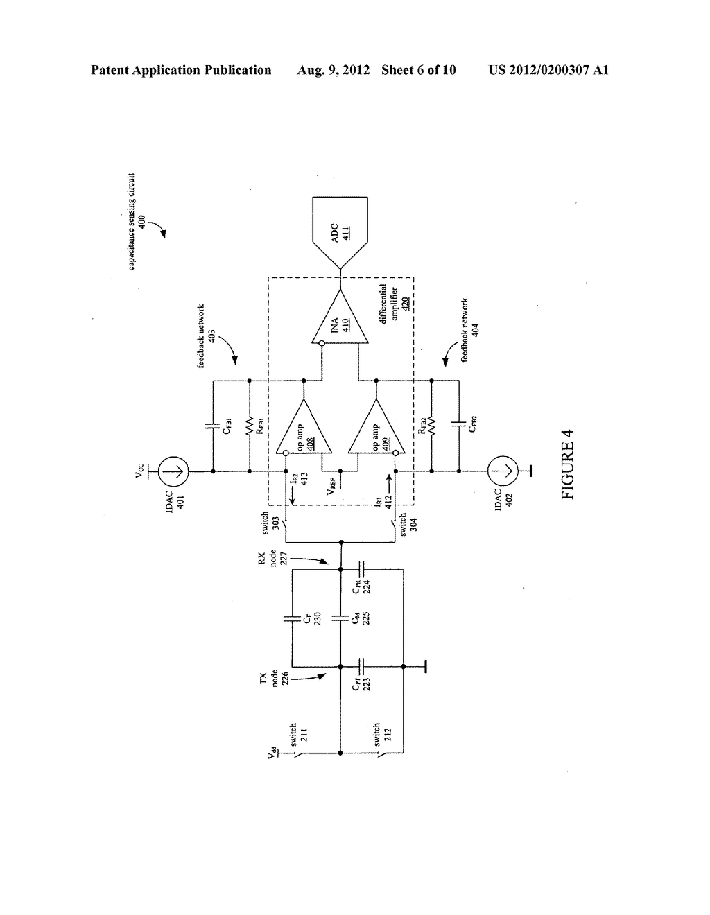 COMPENSATION CIRCUIT FOR A TX-RX CAPACITIVE SENSOR - diagram, schematic, and image 07