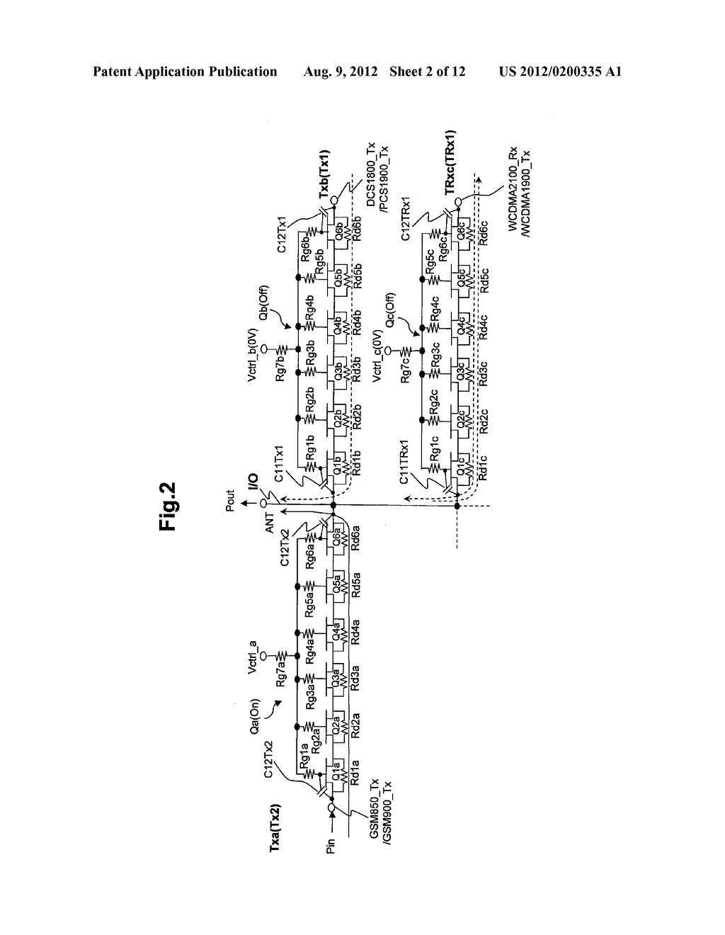 SEMICONDUCTOR INTEGRATED CIRCUIT, RF MODULE USING THE SAME, AND RADIO     COMMUNICATION TERMINAL DEVICE USING THE SAME - diagram, schematic, and image 03