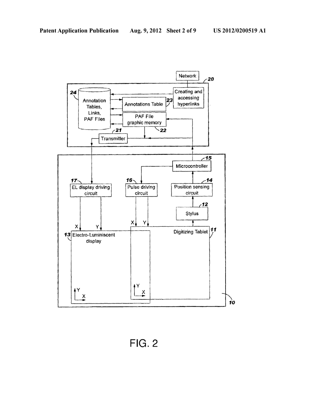 DEVICE AND SYSTEM FOR RETRIEVING AND DISPLAYING HANDWRITTEN ANNOTATIONS - diagram, schematic, and image 03