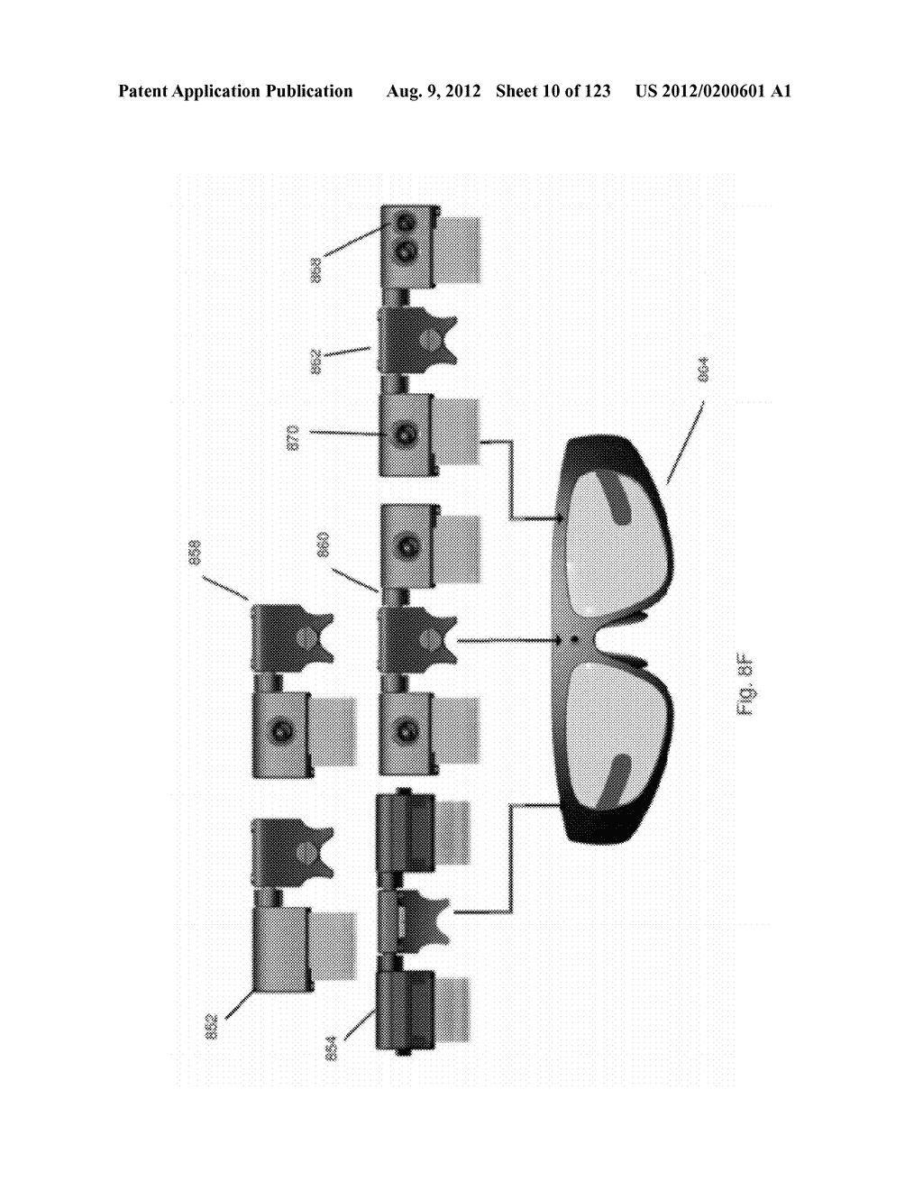 AR GLASSES WITH STATE TRIGGERED EYE CONTROL INTERACTION WITH ADVERTISING     FACILITY - diagram, schematic, and image 11