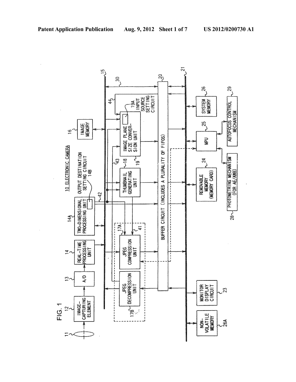 ELECTRONIC CAMERA THAT REDUCES PROCESSING TIME BY PERFORMING DIFFERENT     PROCESSES IN PARALLEL - diagram, schematic, and image 02