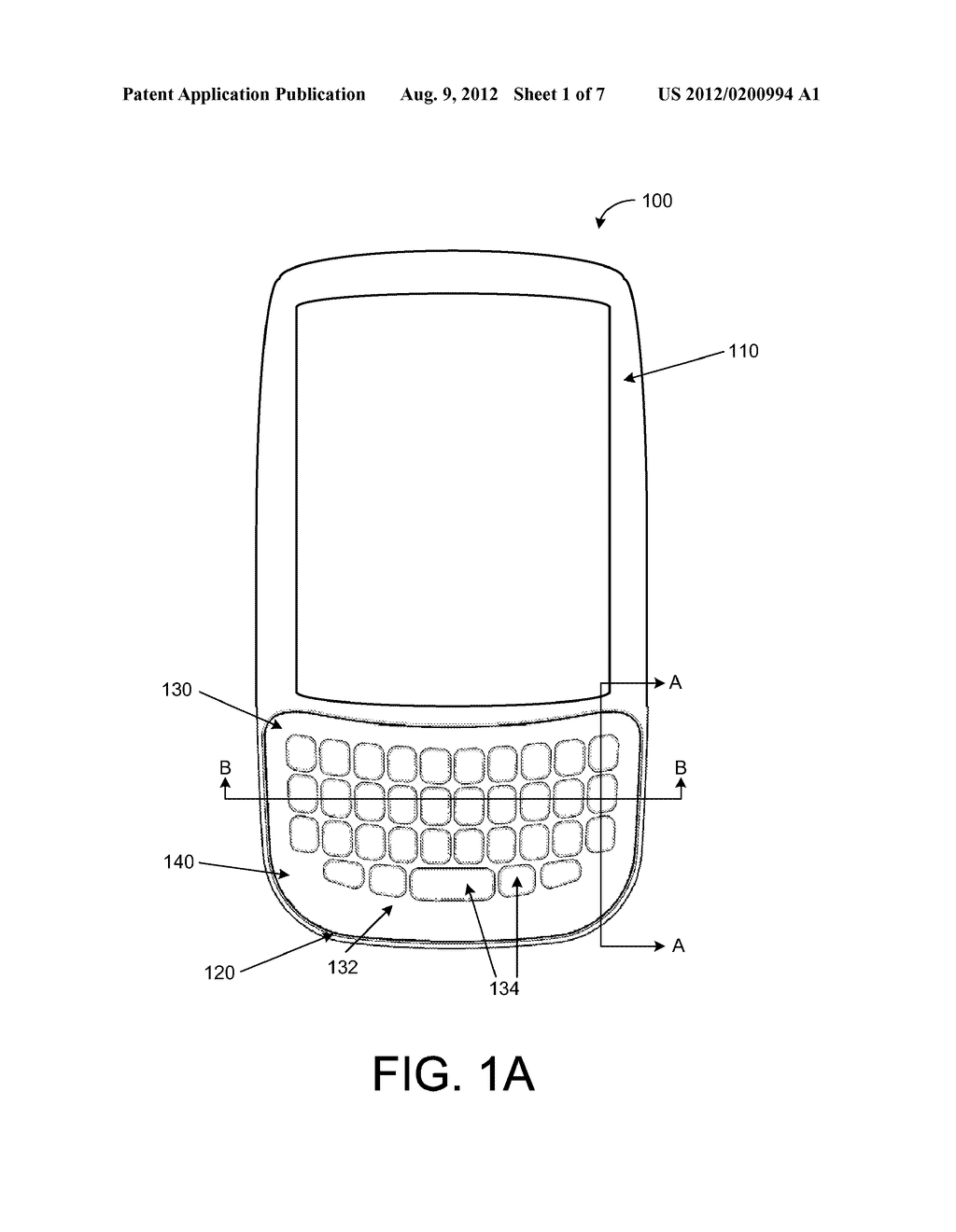 KEYPAD ASSEMBLY WITH A CONTOURED KEYPAD FACADE FOR A MOBILE COMPUTING     DEVICE - diagram, schematic, and image 02