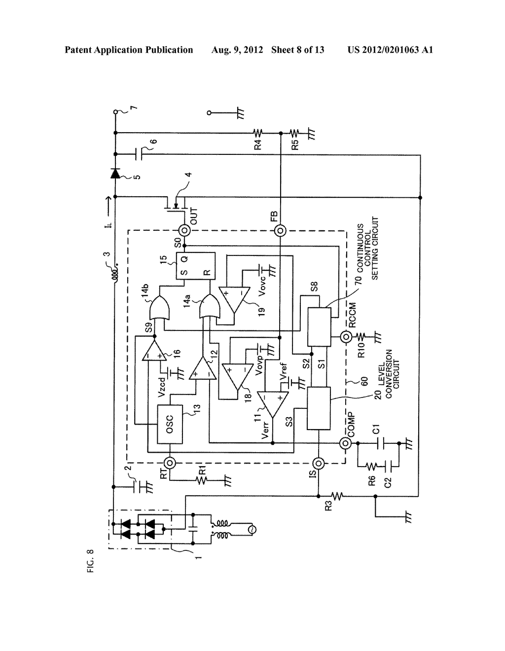 SWITCHING POWER SUPPLY CIRCUIT AND POWER FACTOR CONTROLLER - diagram, schematic, and image 09