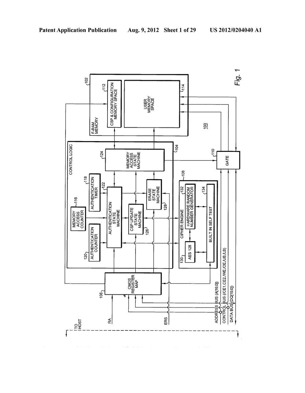 AUTHENTICATING FERROELECTRIC RANDOM ACCESS MEMORY (F-RAM) DEVICE AND     METHOD - diagram, schematic, and image 02