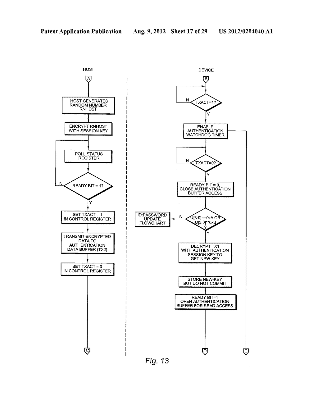AUTHENTICATING FERROELECTRIC RANDOM ACCESS MEMORY (F-RAM) DEVICE AND     METHOD - diagram, schematic, and image 18