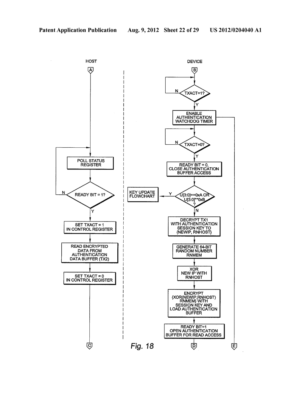 AUTHENTICATING FERROELECTRIC RANDOM ACCESS MEMORY (F-RAM) DEVICE AND     METHOD - diagram, schematic, and image 23