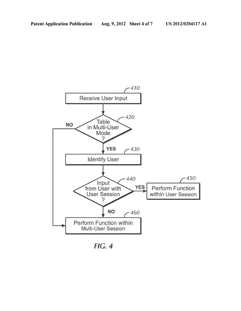 METHOD AND APPARATUS FOR A MULTI-USER SMART DISPLAY FOR DISPLAYING     MULTIPLE SIMULTANEOUS SESSIONS - diagram, schematic, and image 05