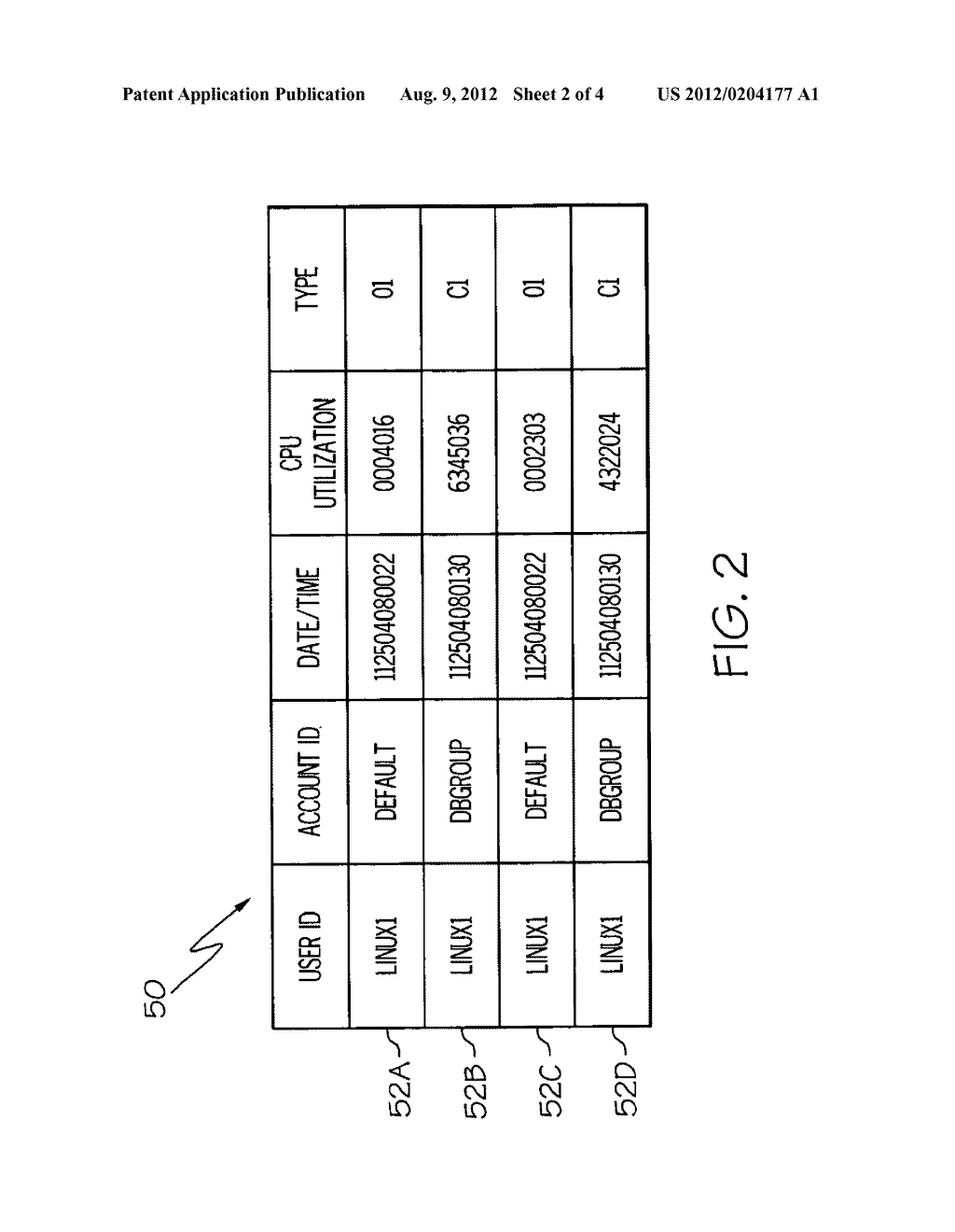 METHOD, SYSTEM AND PROGRAM PRODUCT FOR CAPTURING CENTRAL PROCESSING UNIT     (CPU) UTILIZATION FOR A VIRTUAL MACHINE - diagram, schematic, and image 03