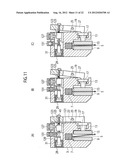 METHOD OF HOLDING BAND SAW BLADE BY MEANS OF BAND SAW BLADE GUIDE DEVICE,     AS WELL AS BAND SAW BLADE GUIDE DEVICE diagram and image