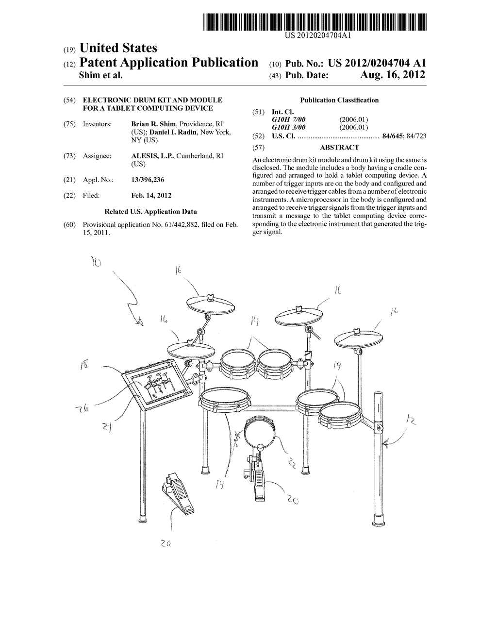 20120204704_01 electronic drum kit and module for a tablet computing device Ford Electronic Ignition Wiring Diagram at mifinder.co