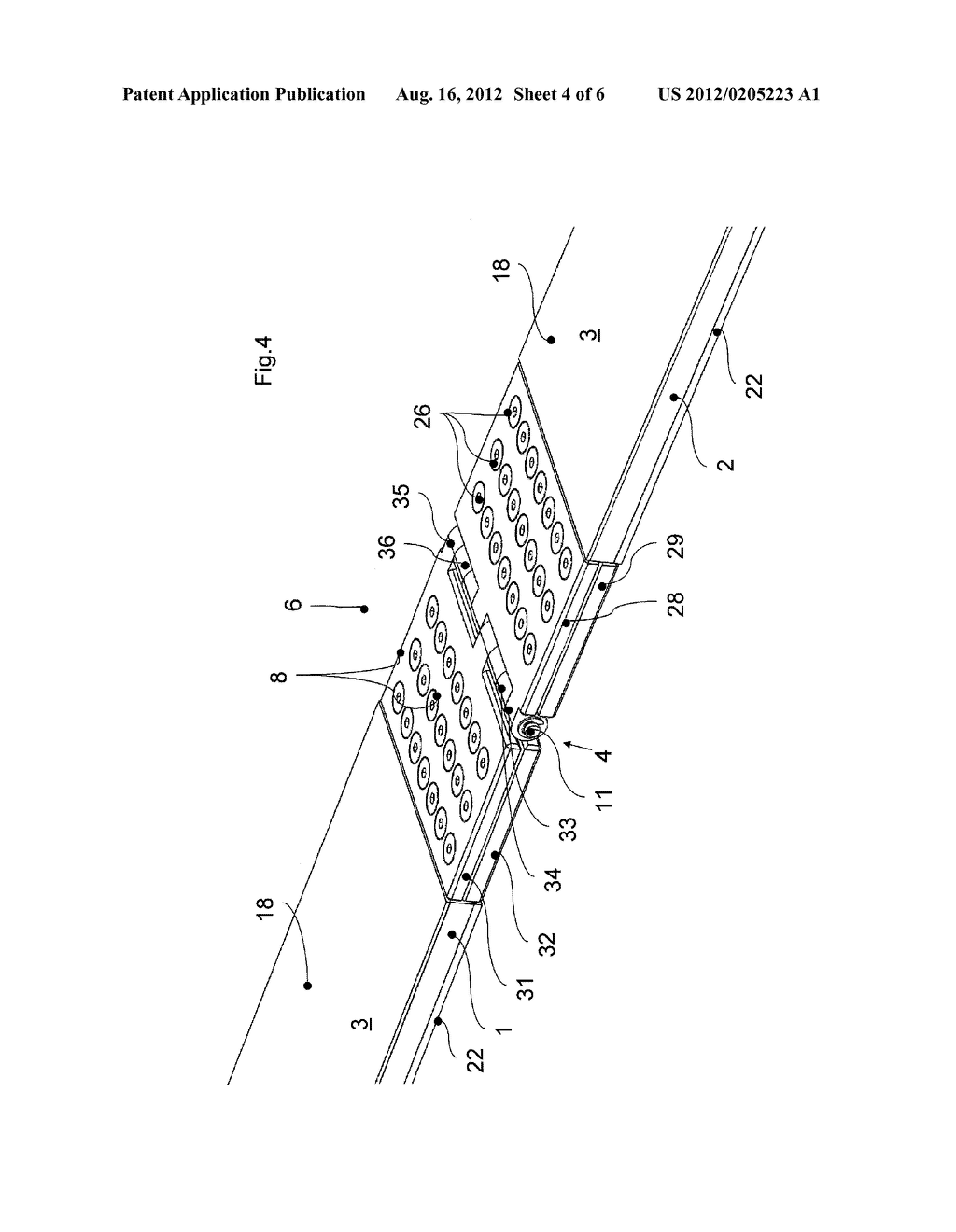 STEEL CORD CONVEYER BELT WITH A CONNECTING HINGE FOR COUPLING TWO BELT     ENDS - diagram, schematic, and image 05