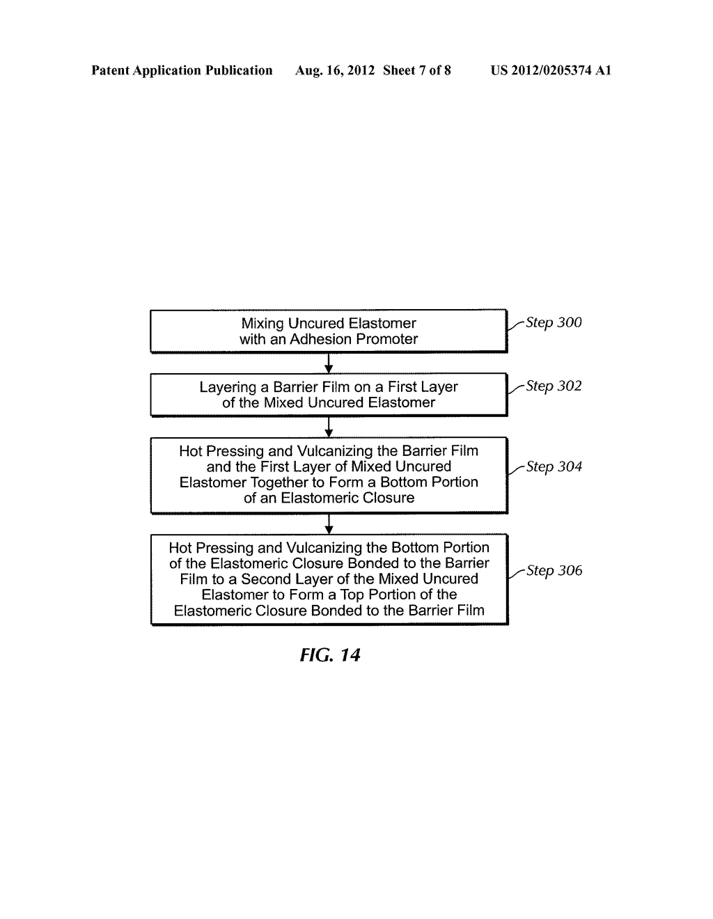 ELASTOMERIC CLOSURE WITH BARRIER LAYER AND METHOD FOR ITS MANUFACTURE - diagram, schematic, and image 08