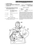 Double Strap Carrying System and Base Stand for Golf Bags and Other     Shoulder-Borne Articles diagram and image