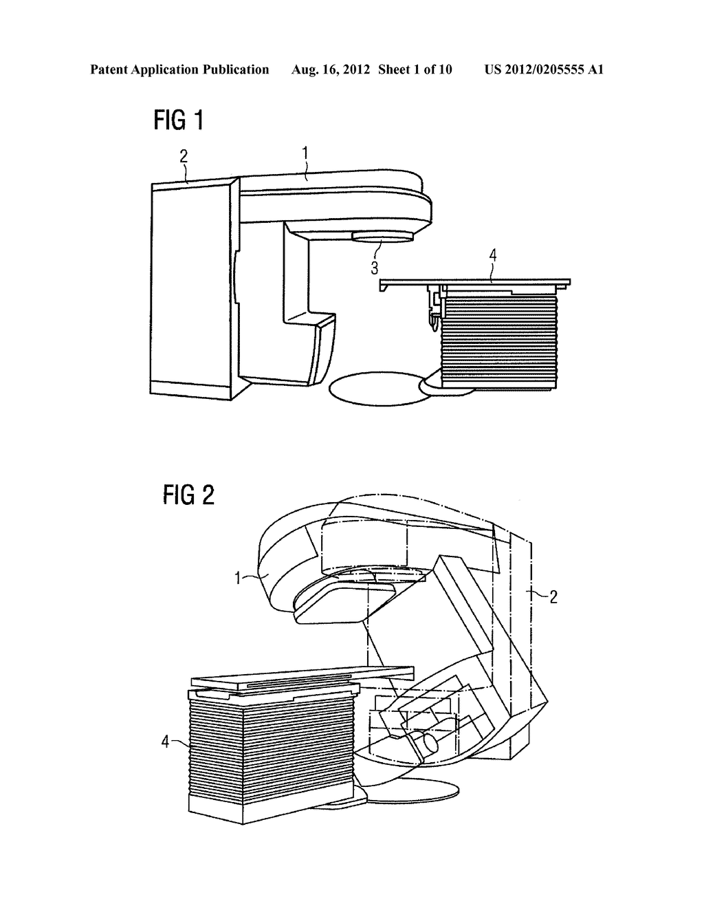 HOLDING ARM AND ARRANGEMENT FOR SUPPORTING DIAGNOSTIC IRRADIATION IN     RADIATION THERAPY APPLICATIONS - diagram, schematic, and image 02