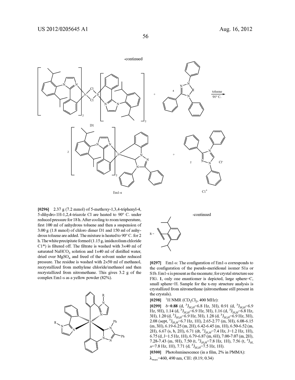 HETEROLEPTIC CARBENE COMPLEXES AND THE USE THEREOF IN ORGANIC ELECTRONICS - diagram, schematic, and image 60