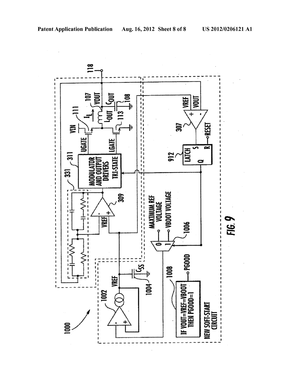 SYSTEM AND METHOD FOR SOFT-STARTING A POWER CONVERTER WITH A PRE-CHARGED     OUTPUT - diagram, schematic, and image 09