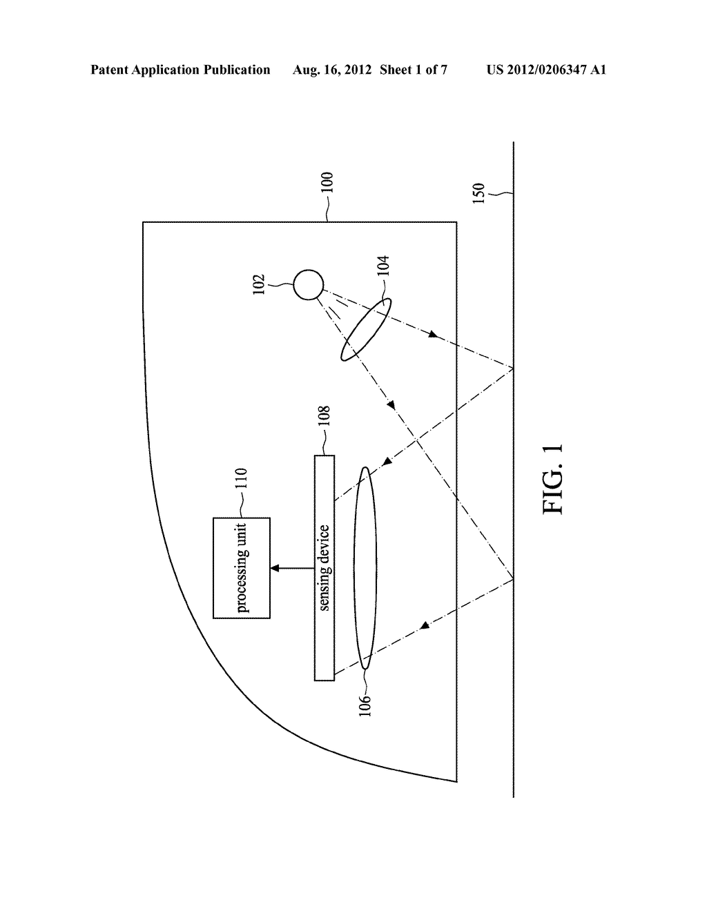 IMAGE-CAPTURING DEVICE FOR OPTICAL POINTING APPARATUS AND METHOD THEREOF - diagram, schematic, and image 02
