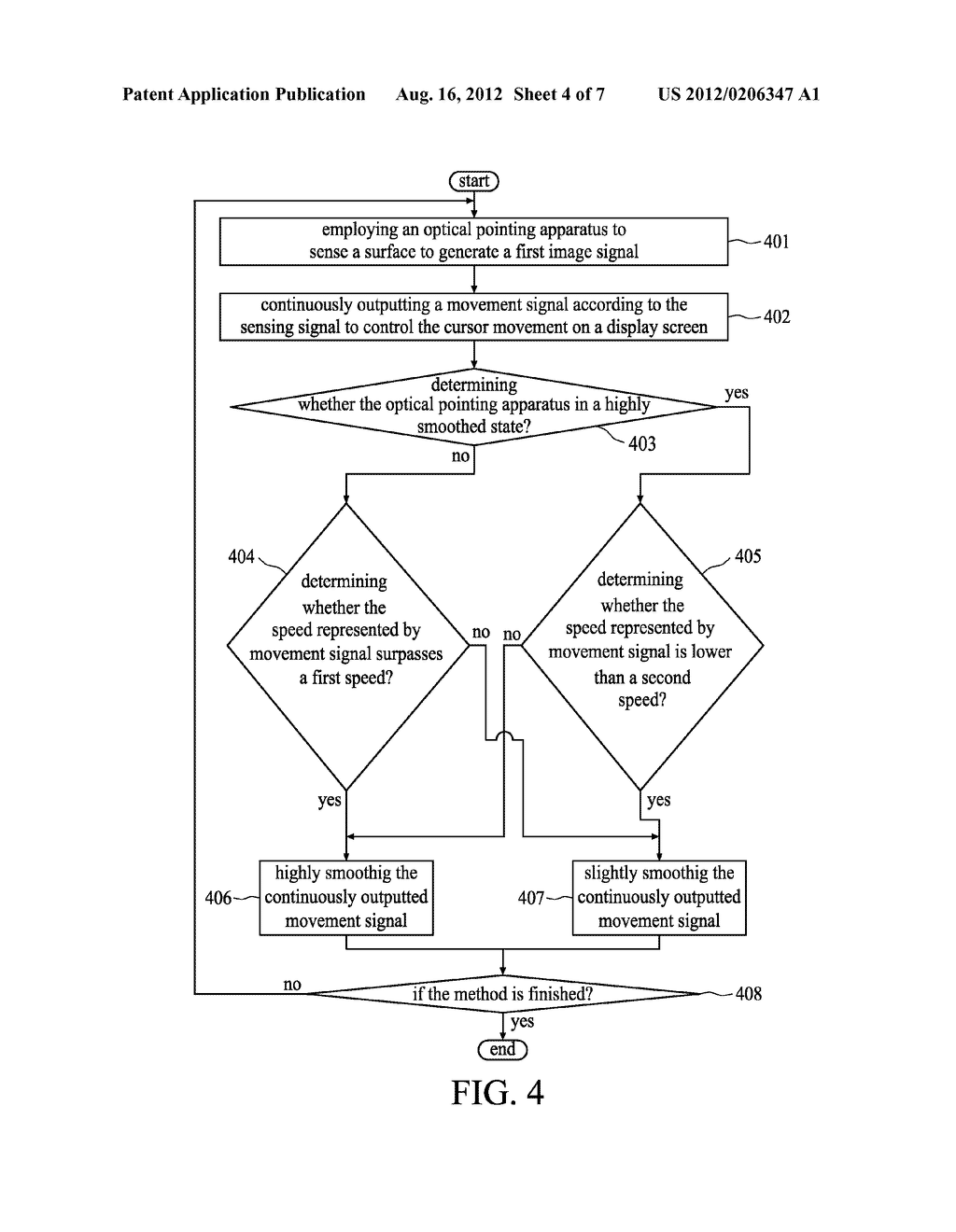 IMAGE-CAPTURING DEVICE FOR OPTICAL POINTING APPARATUS AND METHOD THEREOF - diagram, schematic, and image 05