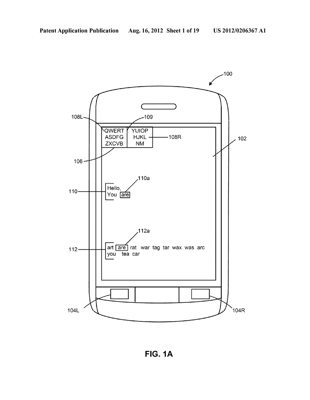 HANDHELD ELECTRONIC DEVICES WITH ALTERNATIVE METHODS FOR TEXT INPUT - diagram, schematic, and image 02