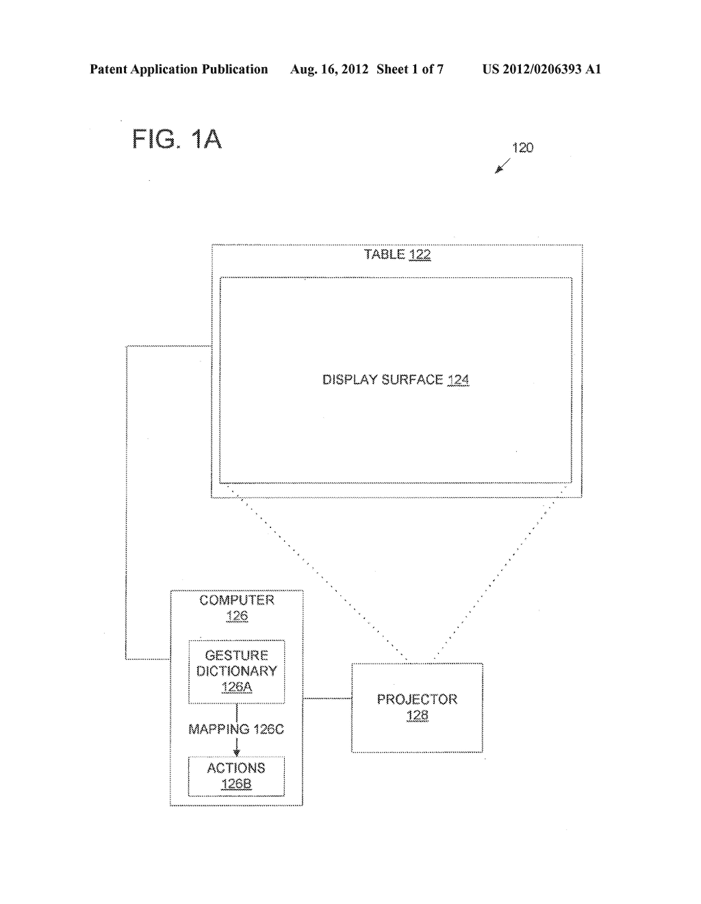 METHOD AND APPARATUS CONTINUING ACTION OF USER GESTURES PERFORMED UPON A     TOUCH SENSITIVE INTERACTIVE DISPLAY IN SIMULATION OF INERTIA - diagram, schematic, and image 02