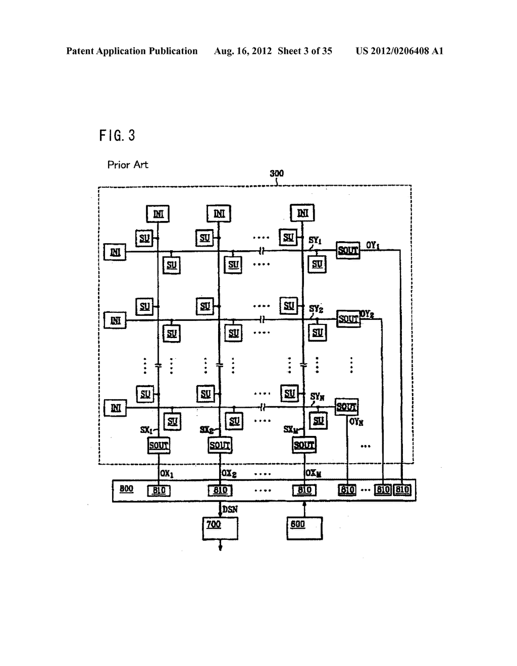 LIQUID CRYSTAL DEVICE COMPRISING ARRAY OF SENSOR CIRCUITS USING A     PRE-CHARGE OPERATION - diagram, schematic, and image 04