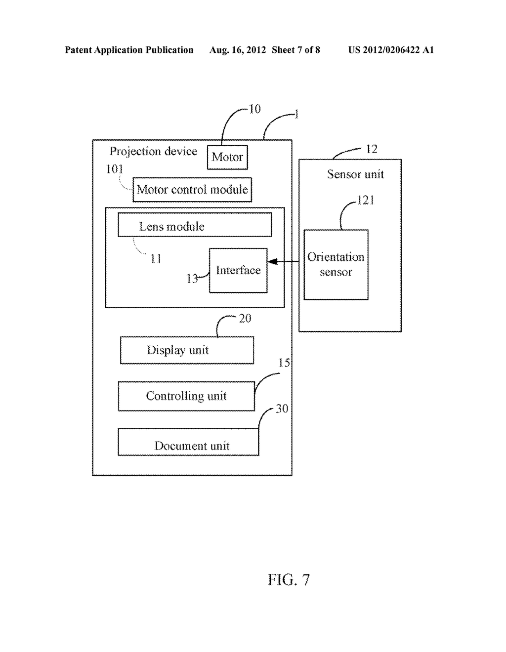 PROJECTION DEVICE WITH DISPLAY CONTROL FUNCTION AND METHOD THEREOF - diagram, schematic, and image 08