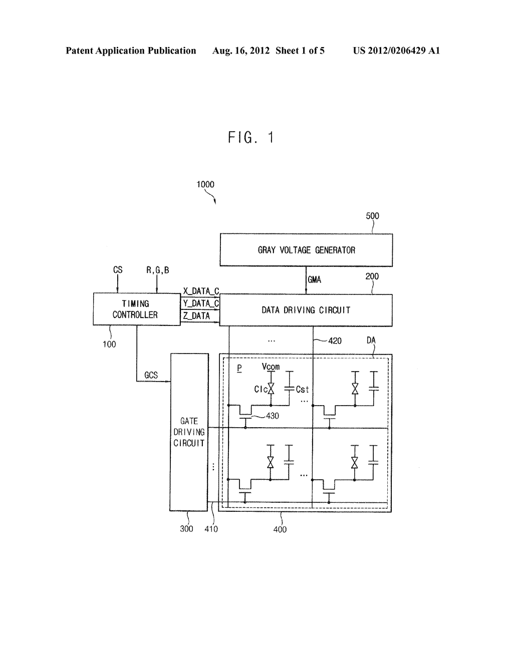 METHOD OF PROCESSING DATA AND A DISPLAY APPARATUS PERFORMING THE METHOD - diagram, schematic, and image 02
