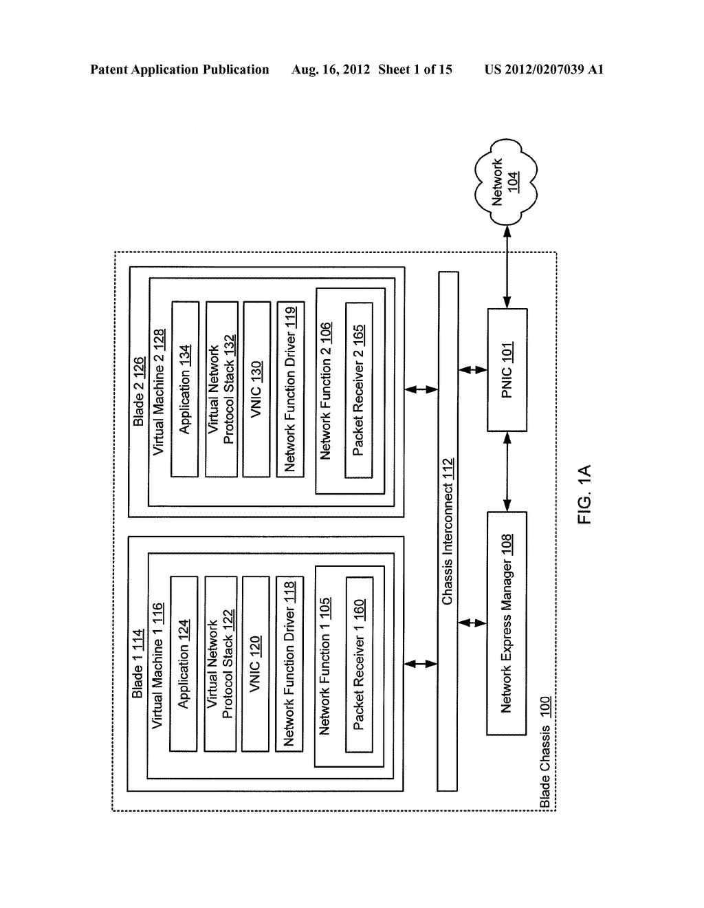 METHOD AND SYSTEM FOR VALIDATING NETWORK TRAFFIC CLASSIFICATION IN A BLADE     SERVER - diagram, schematic, and image 02