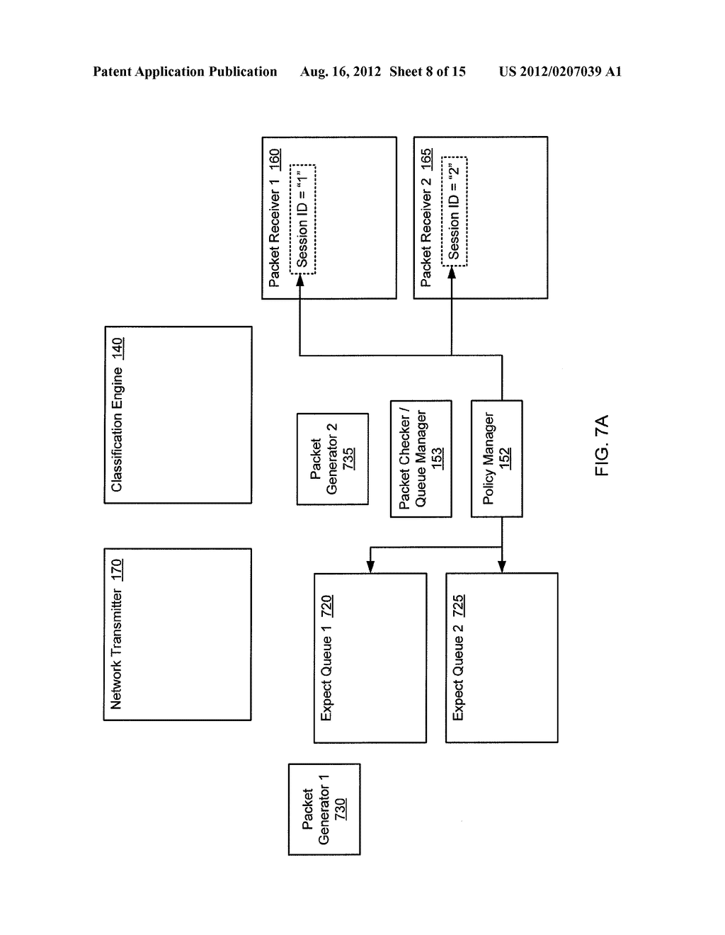 METHOD AND SYSTEM FOR VALIDATING NETWORK TRAFFIC CLASSIFICATION IN A BLADE     SERVER - diagram, schematic, and image 09