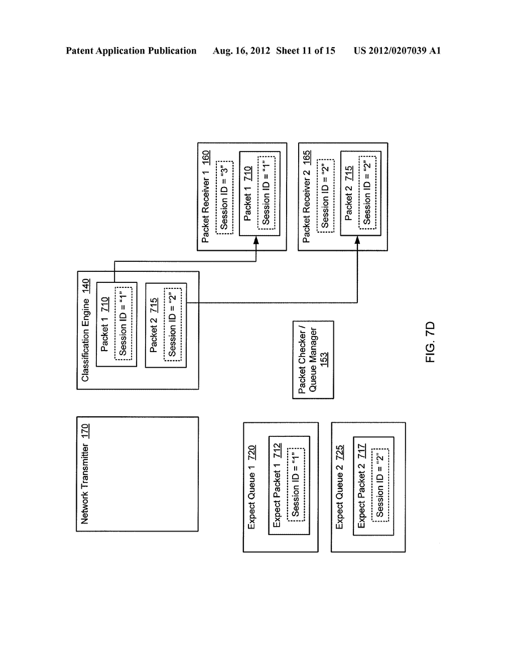 METHOD AND SYSTEM FOR VALIDATING NETWORK TRAFFIC CLASSIFICATION IN A BLADE     SERVER - diagram, schematic, and image 12