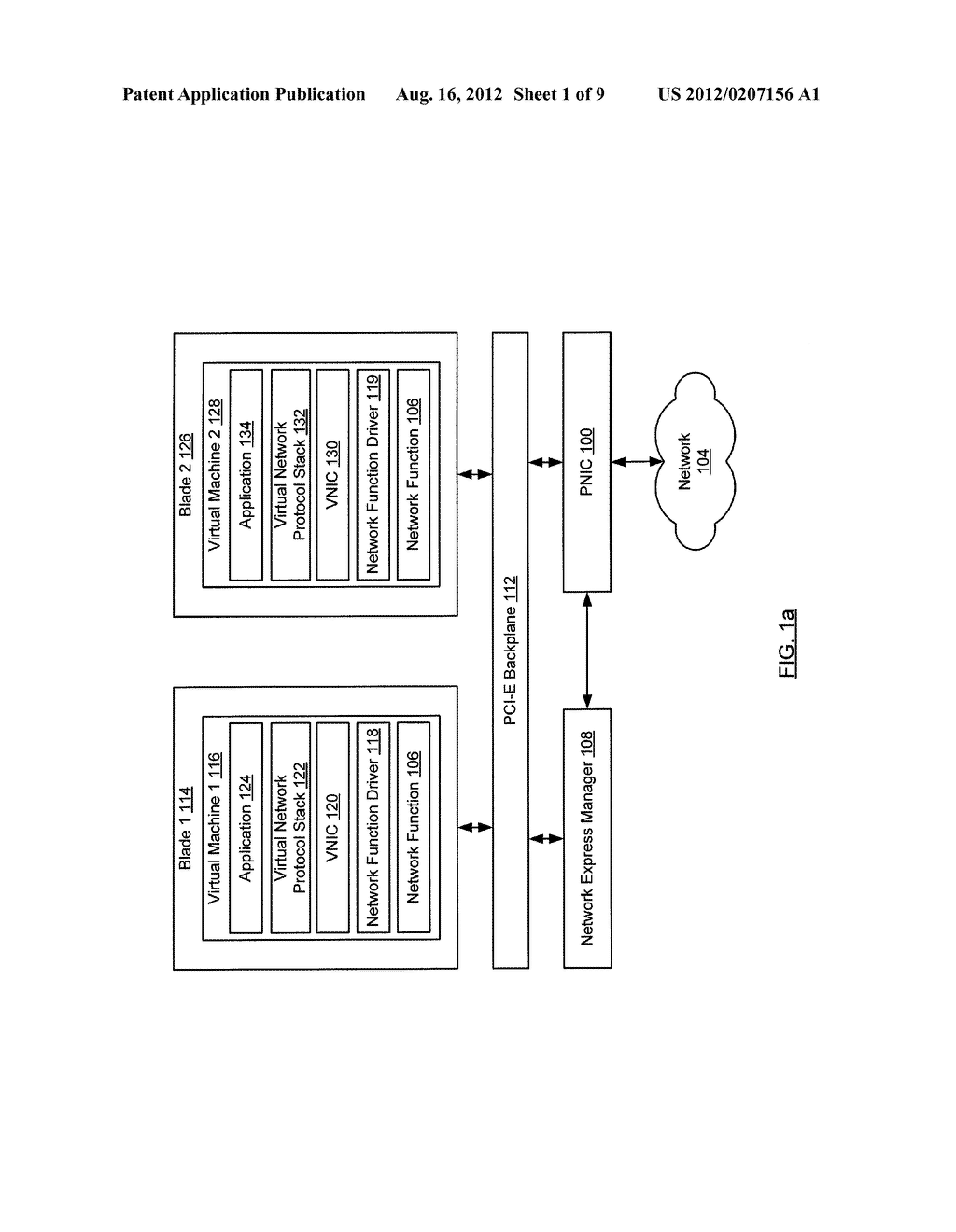 METHOD AND SYSTEM FOR ROUTING NETWORK TRAFFIC FOR A BLADE SERVER - diagram, schematic, and image 02