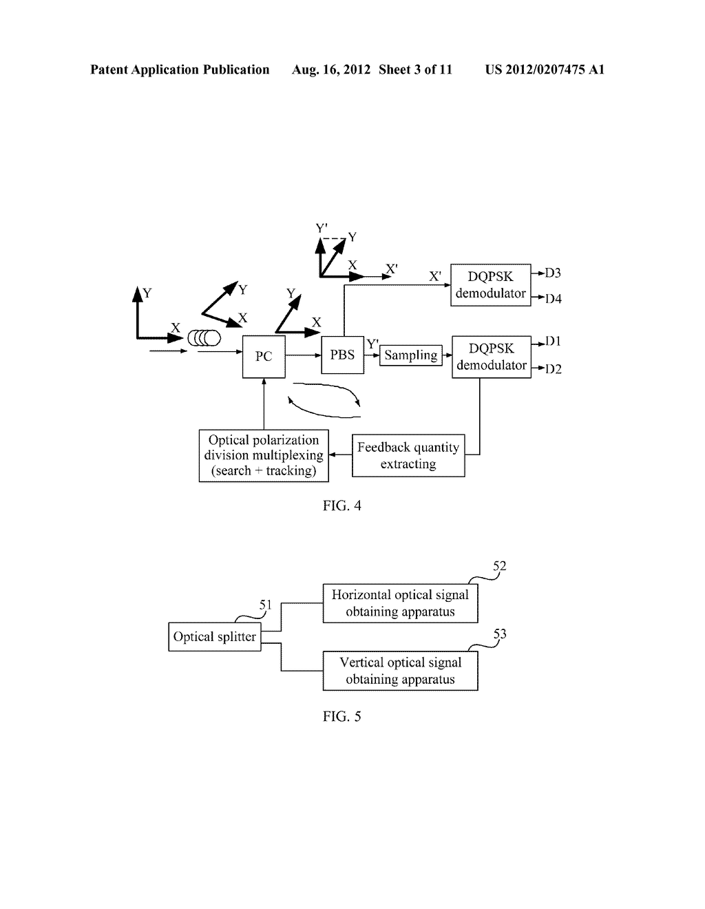 RECEIVING APPARATUS, SENDING APPARATUS, SYSTEM AND METHOD FOR OPTICAL     POLARIZATION DIVISION MULTIPLEXING - diagram, schematic, and image 04