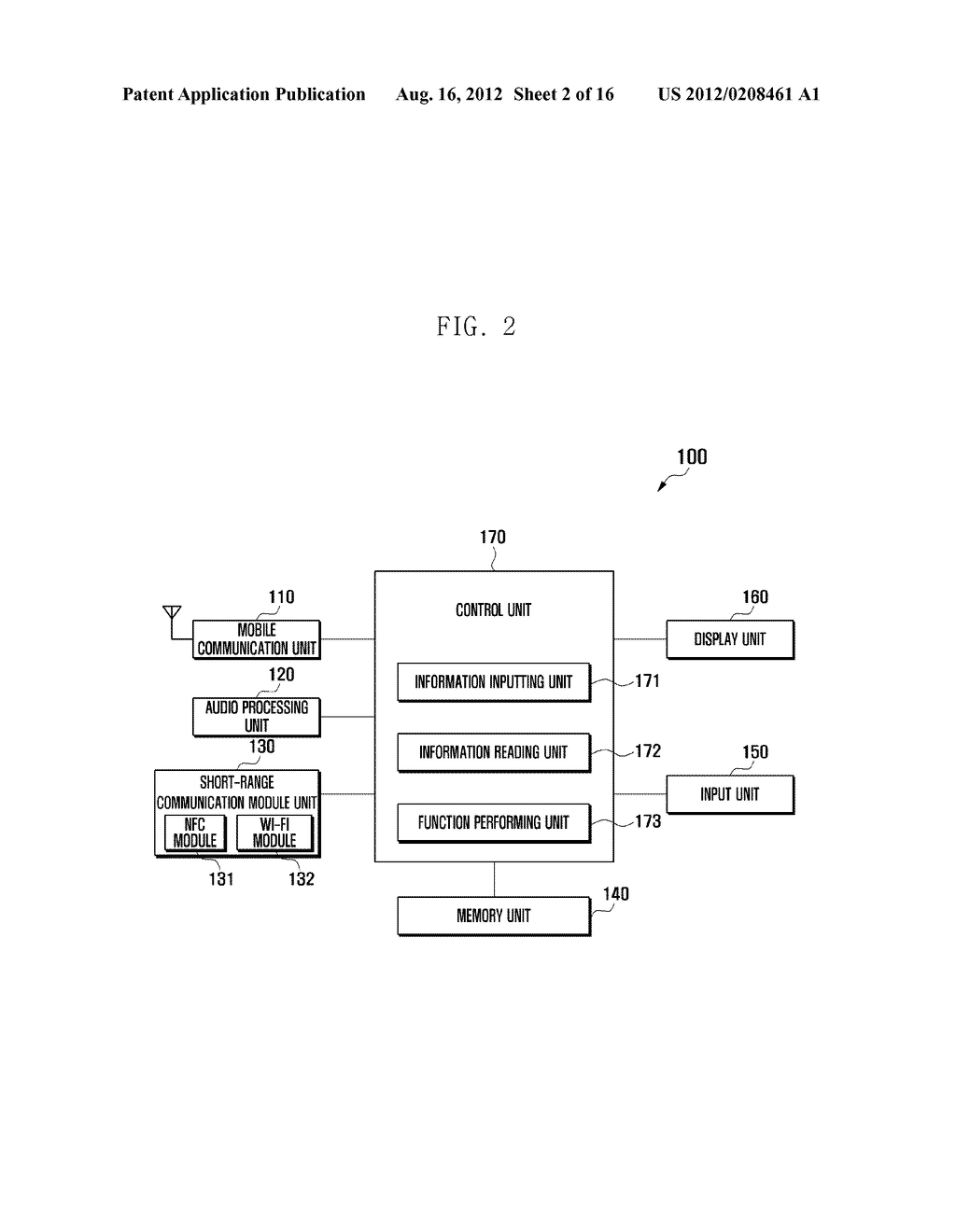 MOBILE DEVICE AND METHOD FOR PERFORMING FUNCTION BASED ON SHORT-RANGE     COMMUNICATION - diagram, schematic, and image 03