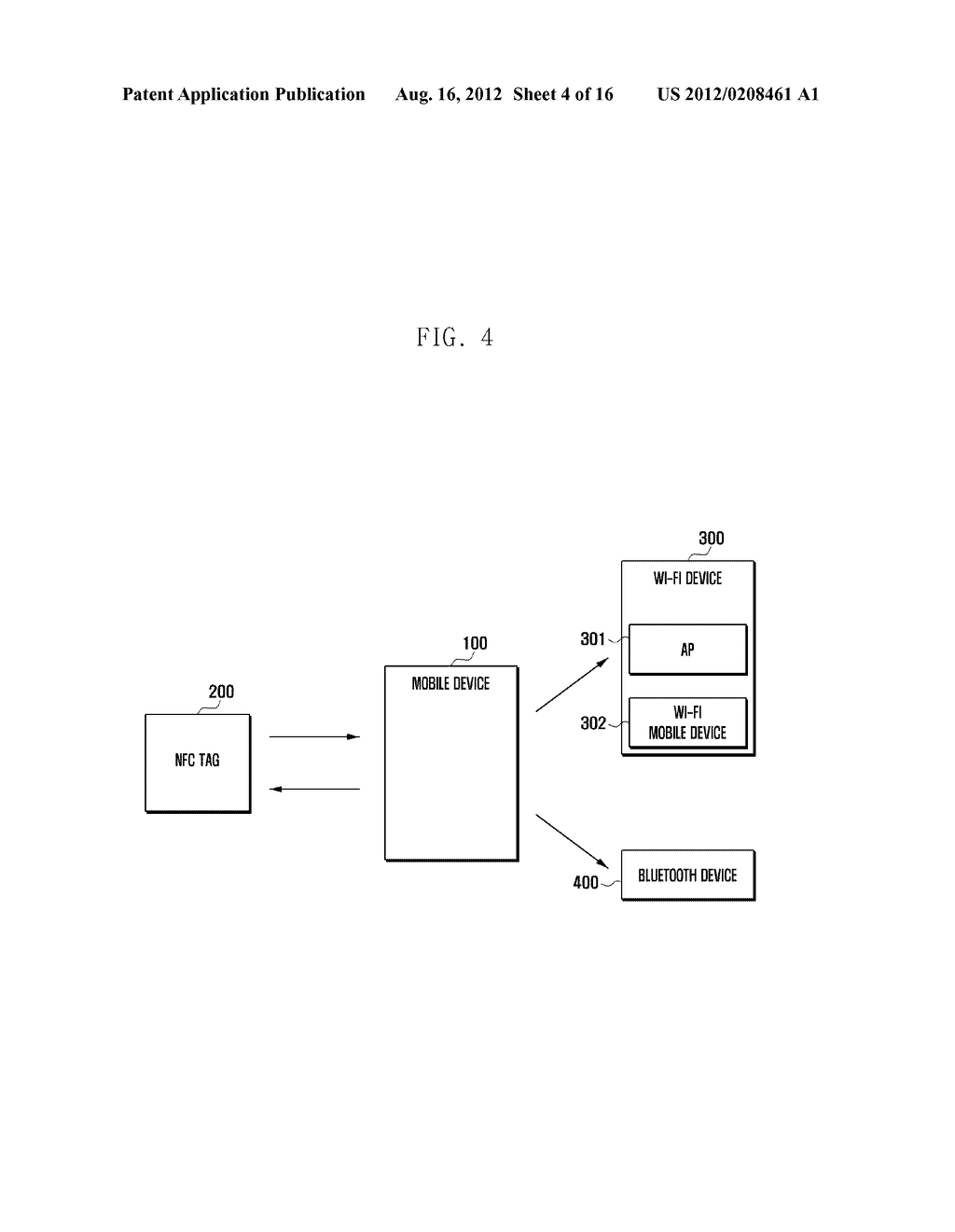 MOBILE DEVICE AND METHOD FOR PERFORMING FUNCTION BASED ON SHORT-RANGE     COMMUNICATION - diagram, schematic, and image 05