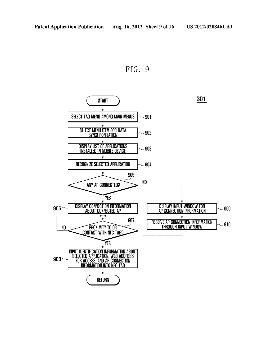 MOBILE DEVICE AND METHOD FOR PERFORMING FUNCTION BASED ON SHORT-RANGE     COMMUNICATION - diagram, schematic, and image 10