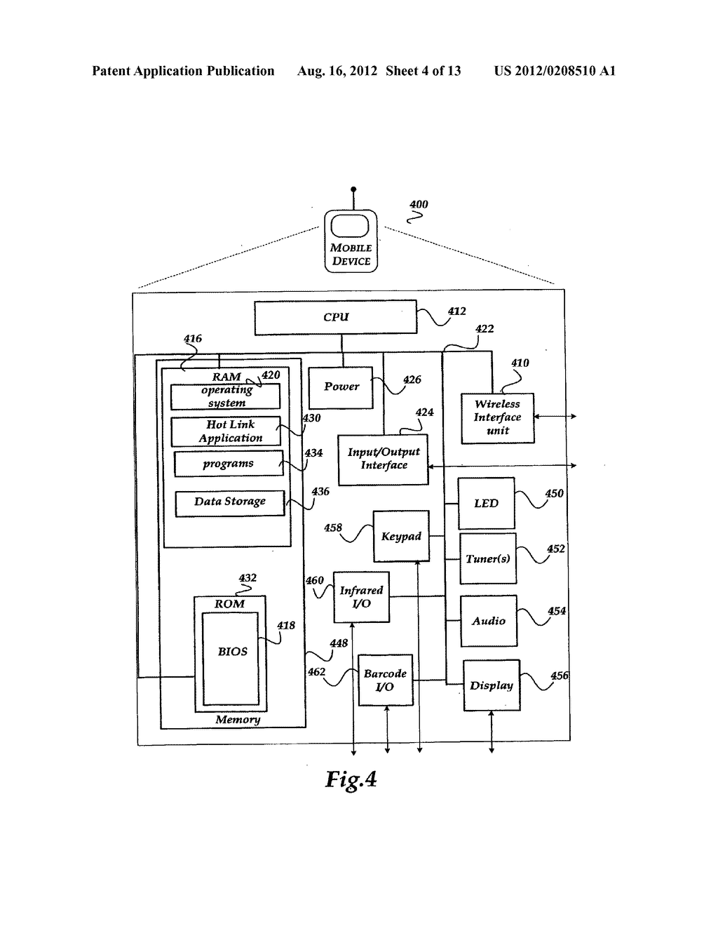 METHOD AND SYSTEMS FOR GENERATING AND SENDING A HOT LINK ASSOCIATED WITH A     USER INTERFACE TO A DEVICE - diagram, schematic, and image 05