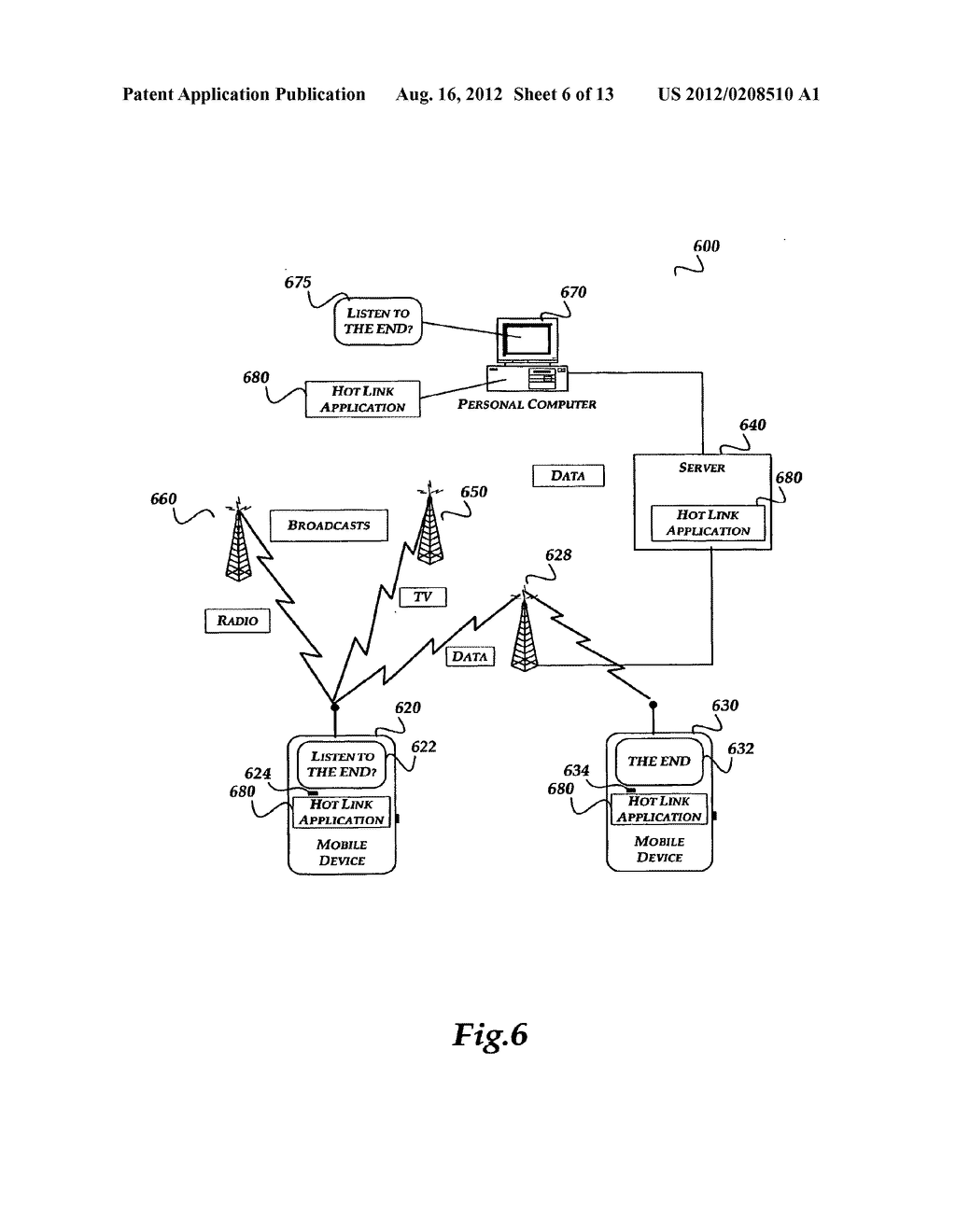 METHOD AND SYSTEMS FOR GENERATING AND SENDING A HOT LINK ASSOCIATED WITH A     USER INTERFACE TO A DEVICE - diagram, schematic, and image 07