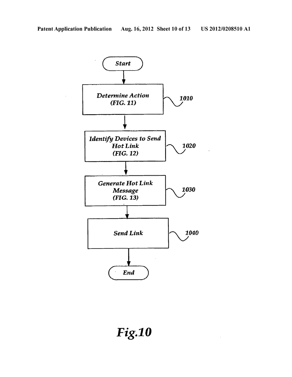 METHOD AND SYSTEMS FOR GENERATING AND SENDING A HOT LINK ASSOCIATED WITH A     USER INTERFACE TO A DEVICE - diagram, schematic, and image 11