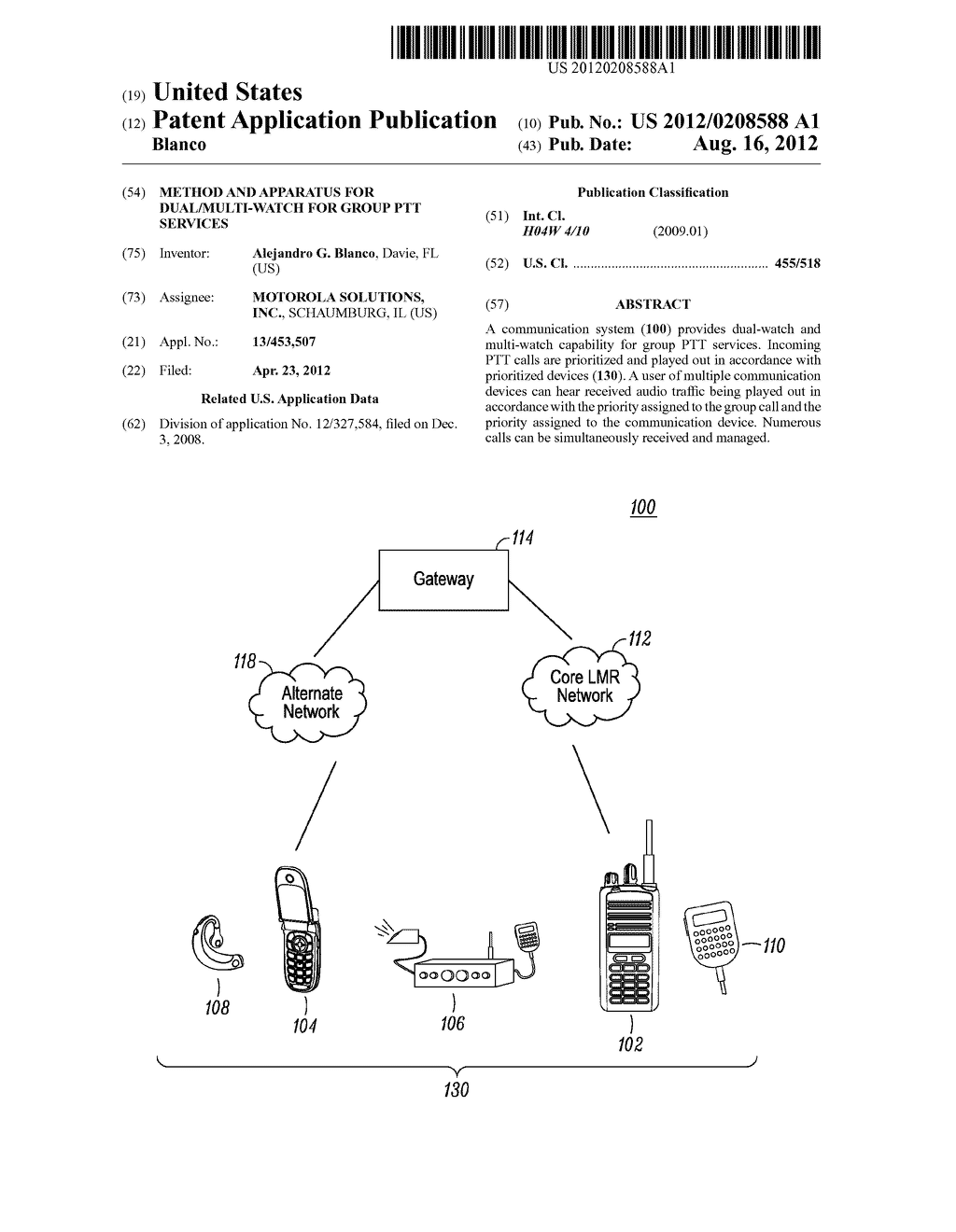 METHOD AND APPARATUS FOR DUAL/MULTI-WATCH FOR GROUP PTT SERVICES - diagram, schematic, and image 01