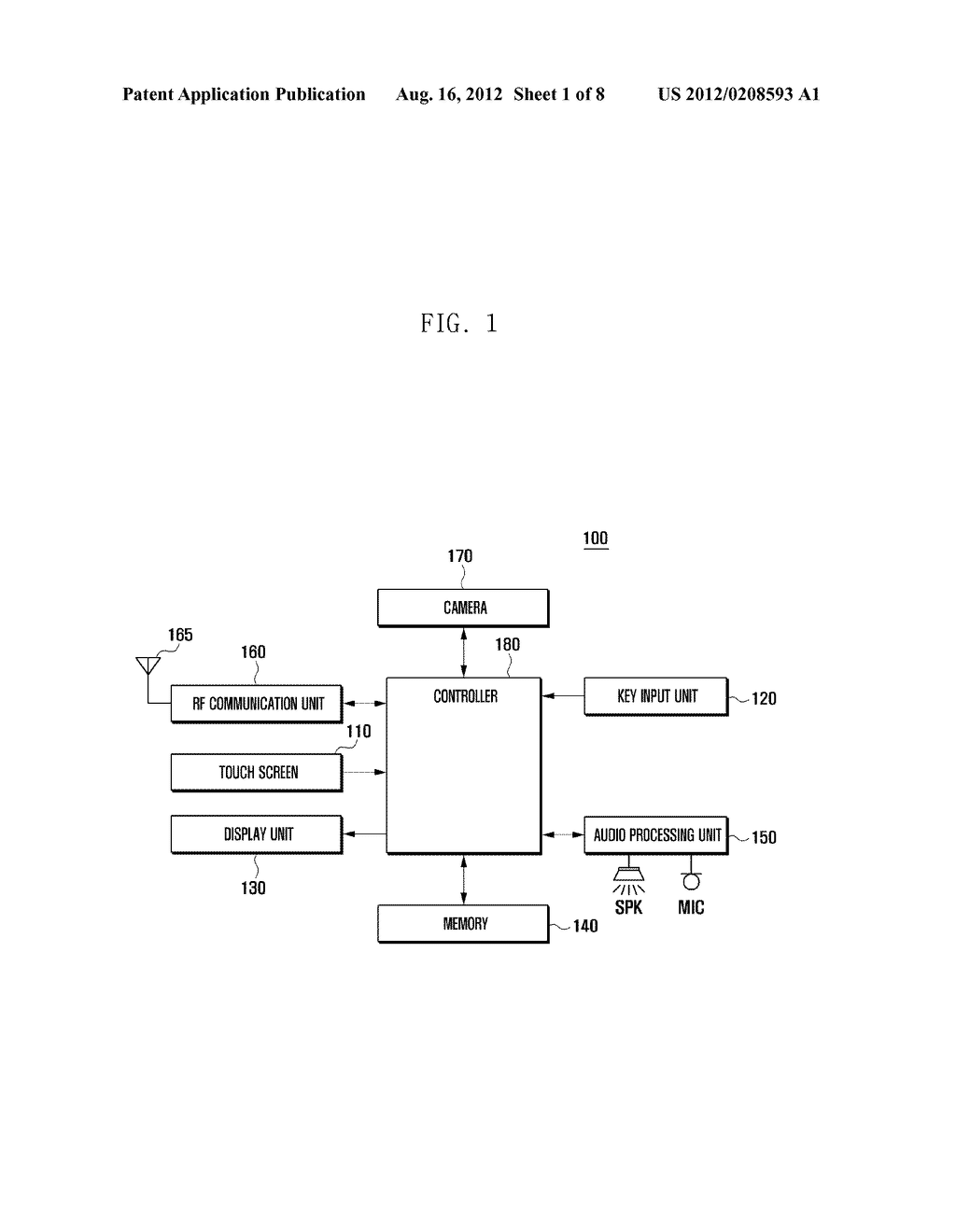METHOD FOR CONTROLLING SCREEN OF MOBILE TERMINAL - diagram, schematic, and image 02